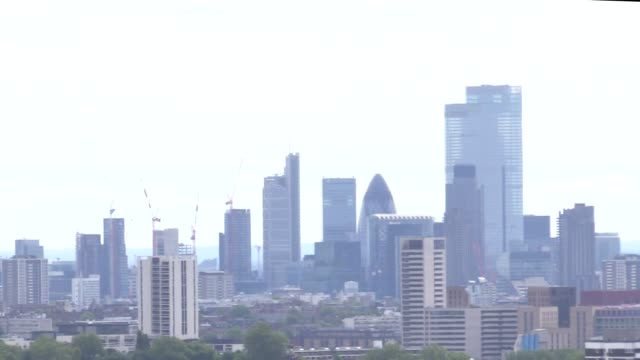 londoners enjoy the views from parliament hill on hampstead heath on the first sunday since coronavirus lockdown restriction were eased - parliament hill stock videos & royalty-free footage