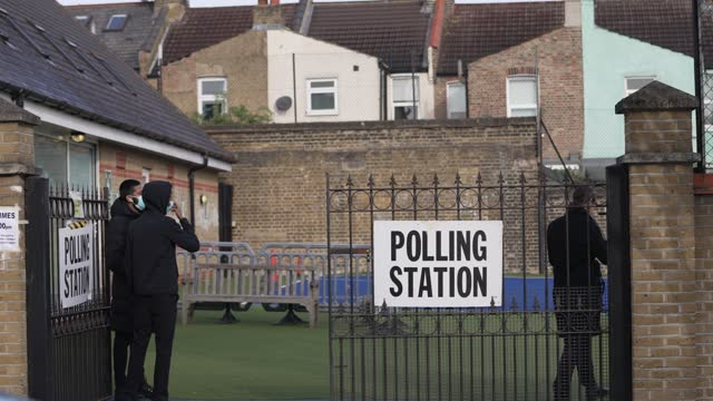 londoners go to vote on may 06, 2021 in london, england. the london mayoral election takes place today a year after the emergency coronavirus act... - election stock videos & royalty-free footage