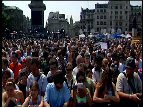 londoners observe two minute silence for victims of 7th jul 05 bomb attacks; 14 jul 05 - mourning stock videos and b-roll footage