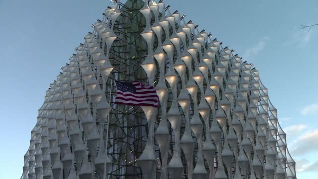 Londoners react as the new US embassy opens without the presence of President Donald Trump who abandoned a trip to attend the opening initially...