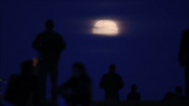 londoners take to a park to observe the last supermoon of 2020. a supermoon occurs when the moon reaches its closest position to the earth, known as... - astronomy stock videos & royalty-free footage