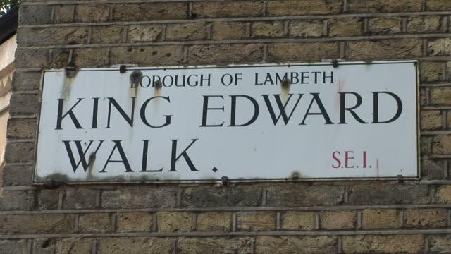 londonking edward walk signboard in london united kingdom - lambeth stock videos & royalty-free footage