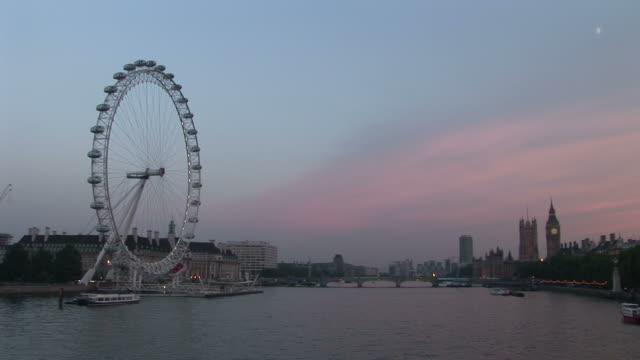 LondonLondon Eye at magic hour in London United Kingdom