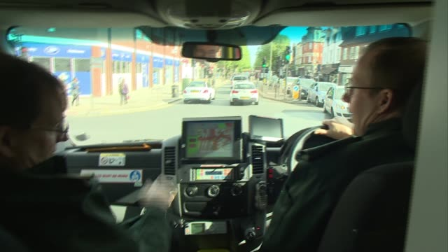 london's ambulance service rating upgraded twin brother paramedics england london ext **mccarthy speaking overlaid sot** mark and chris mccarthy... - siren stock videos and b-roll footage