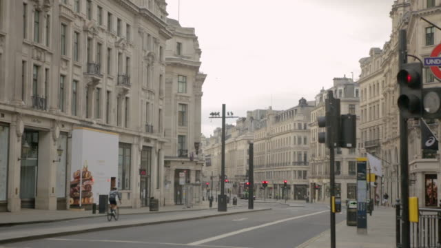 london's oxford circus streets are empty due to the covid-19 lockdown, may 2020 - high street stock videos & royalty-free footage
