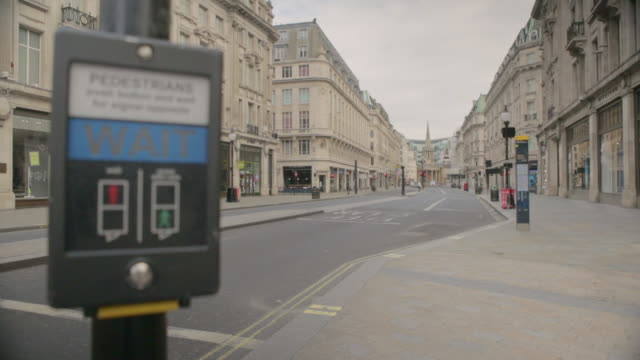 london's oxford street is empty due to the covid19 lockdown may 2020 - high street stock videos & royalty-free footage