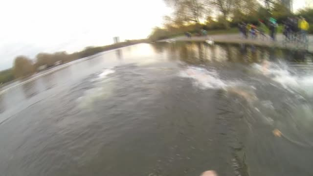 london's swim serpentine club swimmers train for christmas day peter pan cup swim england london hyde park serpentine lake ext various of swim... - tea hot drink stock videos & royalty-free footage