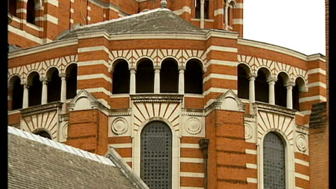 london's westminster cathedral suffering from major structural problems: funding appeal launched; england: london: westminster: westminster... - johann sebastian bach stock videos & royalty-free footage