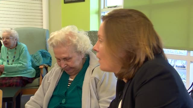 tracey crouch visits age uk centre england london east finchley int various of tracey crouch mp visiting elderly people at age uk centre in east... - finchley stock videos and b-roll footage