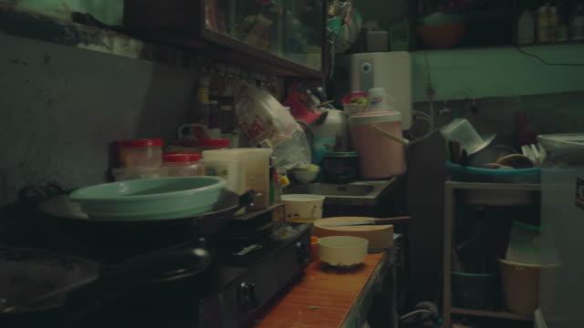 vídeos y material grabado en eventos de stock de lonely at home - messy