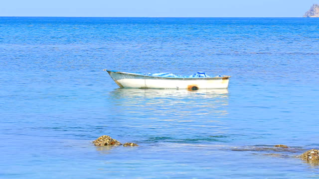 Lonely Boat on the sea