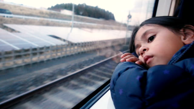 lonely girl in the train. - high speed train stock videos & royalty-free footage