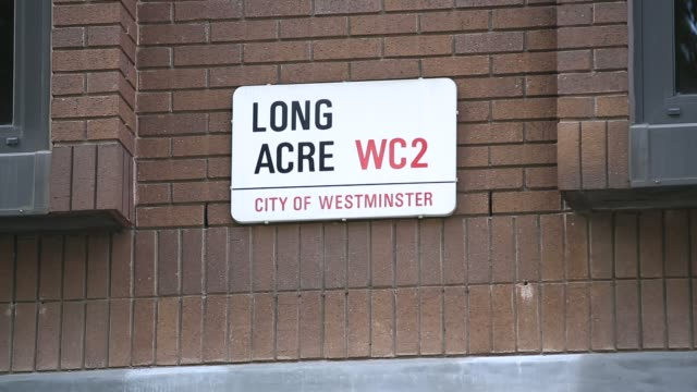 long acre street sign - street name sign stock videos & royalty-free footage