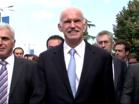 a long autumn of discontent awaits greek prime minister george papandreou as he prepares to unveil the next stage of his government's debtdictated... - thessalonika stock videos & royalty-free footage