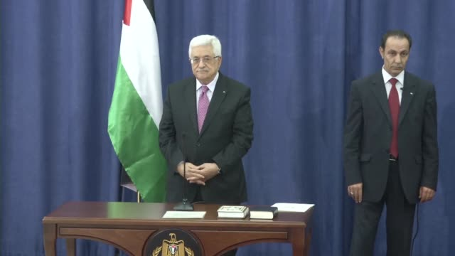 a long awaited palestinian unity government was sworn in before president mahmud abbas on monday after a landmark reconciliation deal with the... - reconciliation stock videos & royalty-free footage