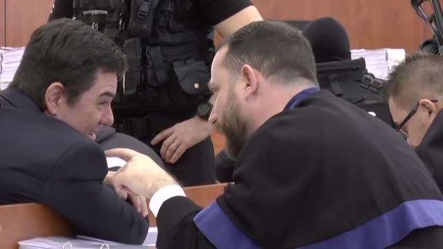 a long awaited trial of slovak businessman marian kocner suspected of ordering the 2018 assassination of an investigative journalist and his fiancee... - fiancé stock videos & royalty-free footage