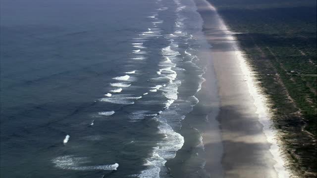 Long Beach In Parque Nacional Do Superagui  - Aerial View - Paraná, Brazil