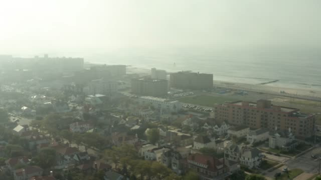 long beach, new york drone view - long island stock videos & royalty-free footage