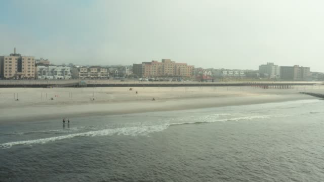long beach, new york drone view - nassau stock videos & royalty-free footage