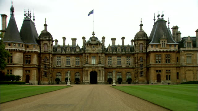 A long driveway leads up to Waddesdon Manor, Buckinghamshire. Available in HD.
