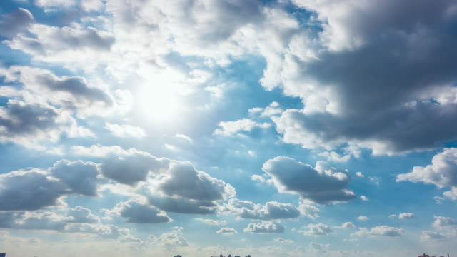 long exposure, clear blue sky with cloud scape. - cloud sky stock videos & royalty-free footage