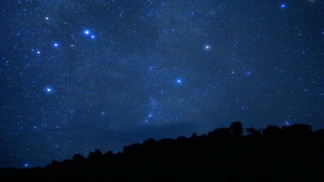 vídeos de stock, filmes e b-roll de longa exposição de estrelas e a via láctea sobre a montanha à noite - long exposure