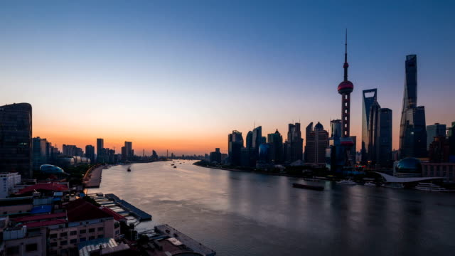 long gone before daylight of the huangpu river - river huangpu stock videos & royalty-free footage