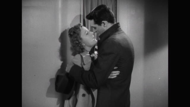 1941 A long goodbye between couple ( Cary Grant & Irene Dunne) as train departs