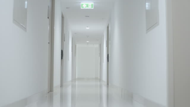 long hallway - elevated walkway stock videos & royalty-free footage
