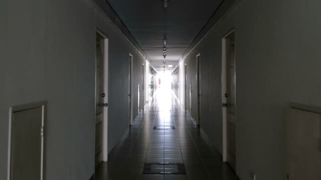 long hallway - hospital stock videos & royalty-free footage