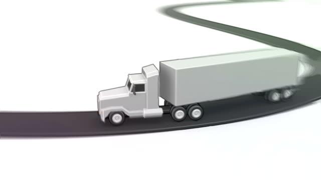 long haul (looping) - illustration stock videos & royalty-free footage