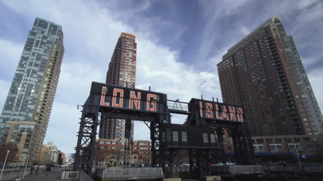 long island city shore day - long island video stock e b–roll
