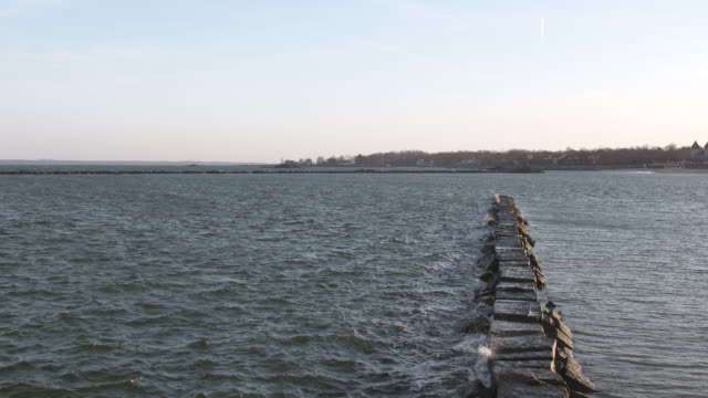 Long Island Sound Breakwater Sunset
