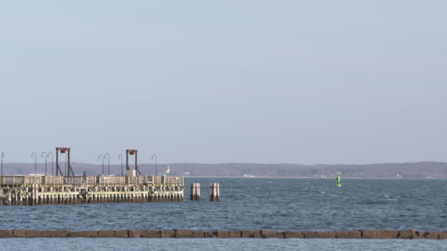 Long Island Sound Pier Pan Shot
