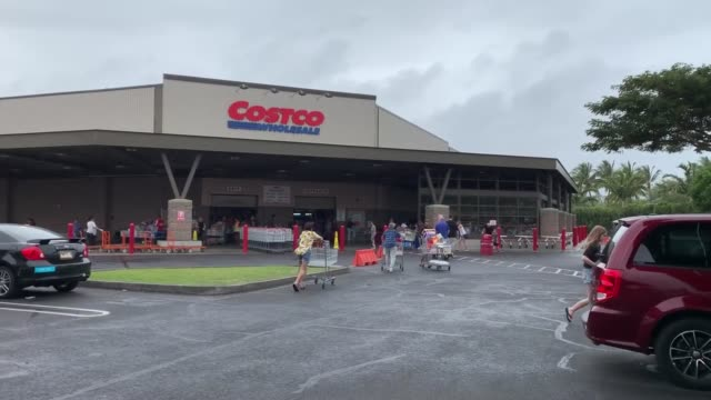 long lines and shortages are now normal at maui's costco - maui stock videos & royalty-free footage