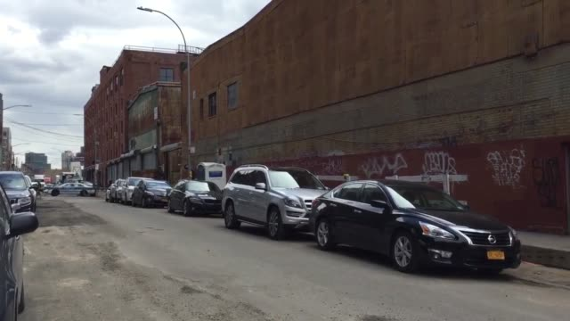 long lines to see bernie sanders and susan sarandon speak in front a large crowd in greenpoint brooklyn - greenpoint brooklyn stock videos & royalty-free footage