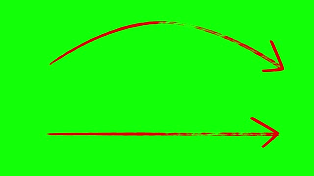 long marker arrows, curved marker arrow, hand drawing arrows green screen red color stock video - arrow symbol stock videos & royalty-free footage