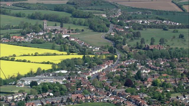 ロング メルフォード ・パリッシュ教会航空写真イングランド、サフォーク、babergh 地区、イギリス - イーストアングリア点の映像素材/bロール