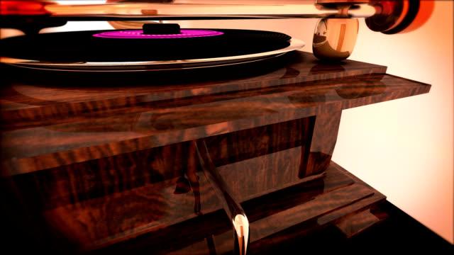 lange spielen tournable vinile vintage-cd - musikstil stock-videos und b-roll-filmmaterial