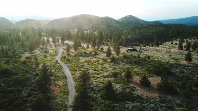 long road aerial view in the oregon state - oregon us state stock videos & royalty-free footage