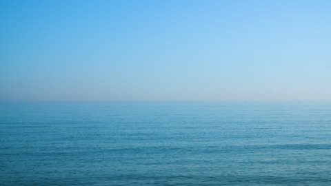 long shot across calm waters off brighton beach, uk. - small group of animals stock videos & royalty-free footage