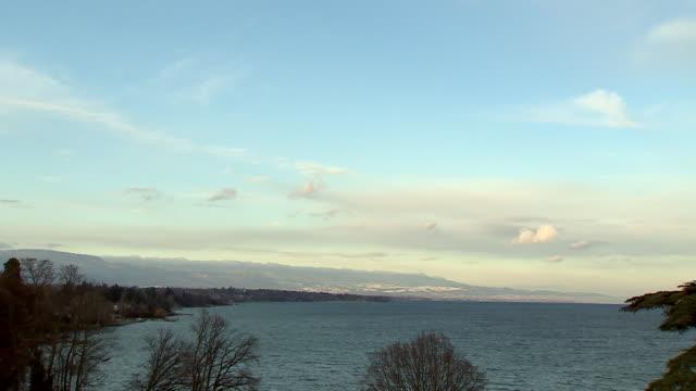 Long shot across Lake Geneva