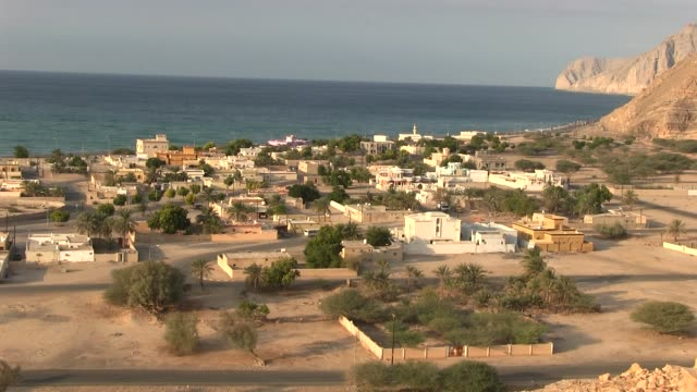 Long shot Bukha Village on the way to Tibat the UAE border with Oman