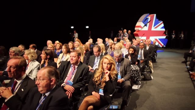 Long Shot general view of delegates taking part in the 2013 Annual Conservative Party Conference in Manchester The five day conference had keynote...