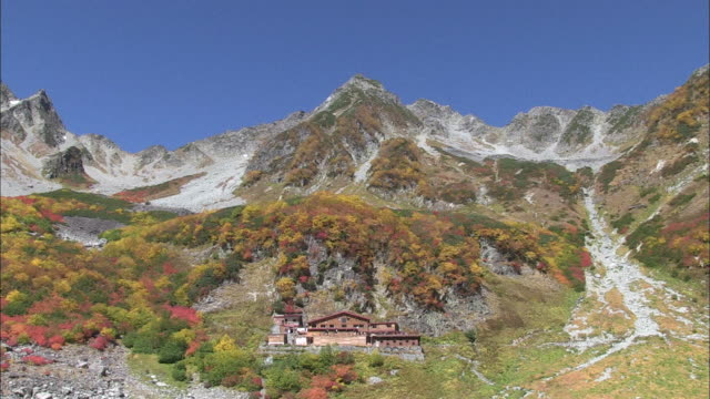 long shot of the karasawa cirque - nagano prefecture stock videos and b-roll footage