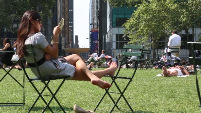 Long Shot People enjoy a summer afternoon in Manhattan's iconic Bryant Park on August 21 2013 in New York City