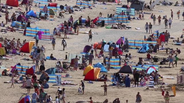 Long Shot People on Newquay Beach