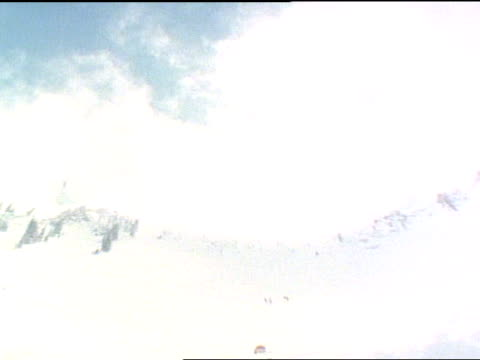 long shot - freestyle skiing stock videos & royalty-free footage