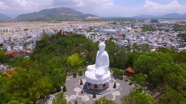 long son pagoda, nha trang city, vietnam - 1936 stock videos & royalty-free footage