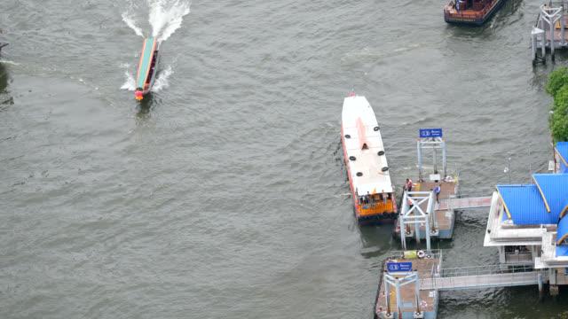 vídeos y material grabado en eventos de stock de barco de cola larga y pasajero de barco exprés - embarcación de pasajeros